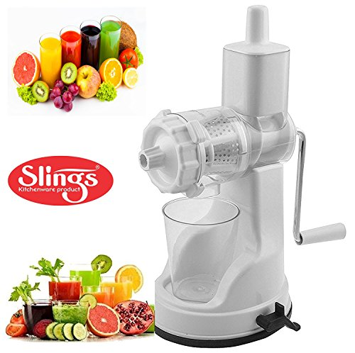 Slings Fruit And Vegetable Steel Handle Juicer with Vaccum Locking System, White