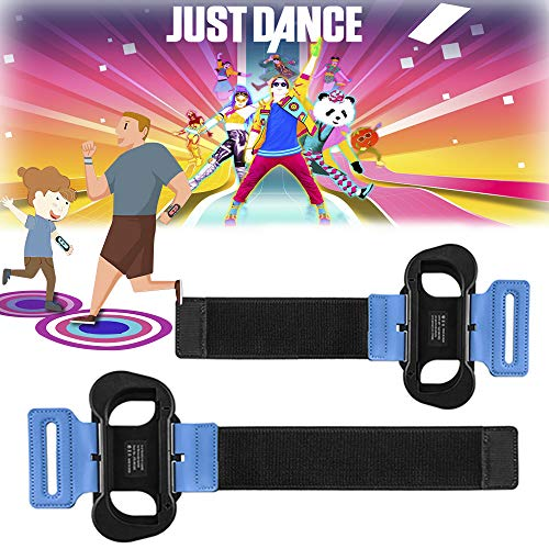 2 Cinturino per Just Dance 2019 per Nintendo Switch controller Joy Con, Wrist Band Armband da polso elastico regolabile compatibile per Nintendo Switch giochi Just Dance, adatto per adulti e bambini