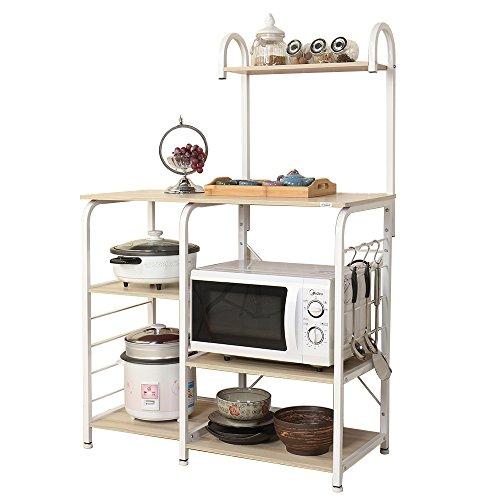 soges Microonde Scaffali Stazione di Lavoro Cucina Armadio per la Conservazione Mensola della Cucina...