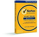Norton Security Deluxe Antivirus Software 2019 | 5 Dispositivi (Licenza di 1 anno) | Compatibile con Mac, Windows, iOS e Android