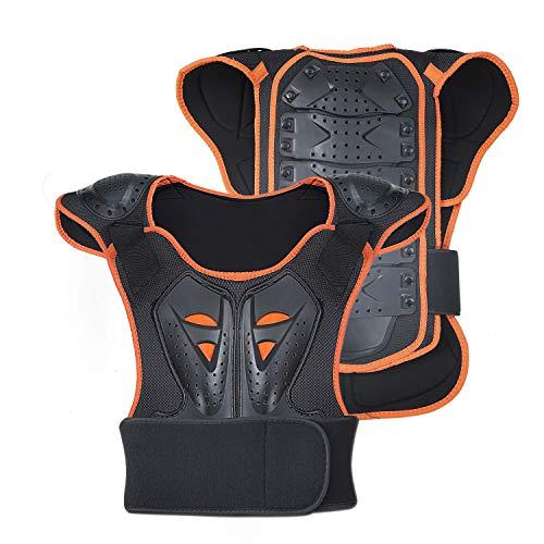 SunTime Kinder Motorrad Weste, Brustschutz Racing Guard mit Rückenschutz für Riding Skating Roller Skifahren 1