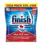 Finish Power Ball Pack de 100 Lave Vaisselles Tablettes Multifonctions Tout-en-1