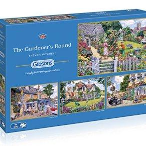 Gibsons The Gardener's - Puzzle Redondo (4 x 500 Piezas)