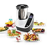Klarstein Food Circus robot de cocina multifunción (olla al vapor, 10 funciones, fácil control, bol de 2 litros, sin BPA) - blanco