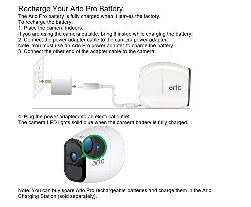 51xGjaYGj%2BL [Bon Plan Smarthome!]  Netgear - VMS4130-100EUS - Arlo Pro -  Pack de 1 Caméra, Smart caméra HD 720p, grand angle 100% Sans Fils - avec ba...