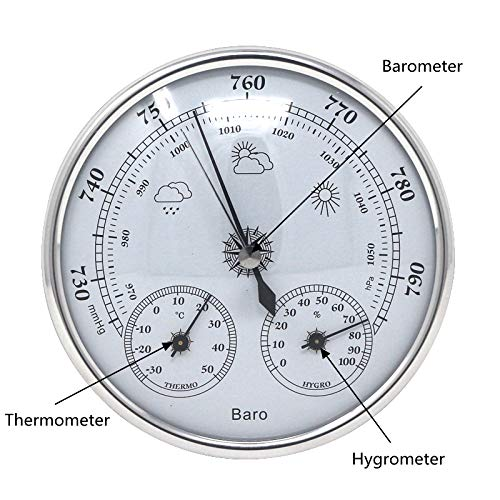Shopystore Analogue Barometer Thermometer Hygrometer Wall Hanging Temperature Hum