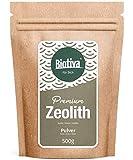 Zeolith Pulver (500g) | Hochwertigstes Zeolithpulver mit hohem Klinoptilolith-Gehalt I abgefüllt im wiederverschließbaren Zippbeutel I Geprüfte Biotiva® Qualität