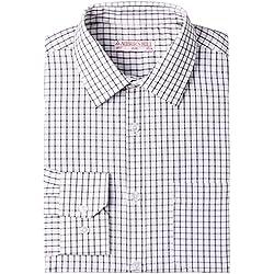 Auburn Hill Men's Formal Shirt (8907002750402_254733634_40_Black)