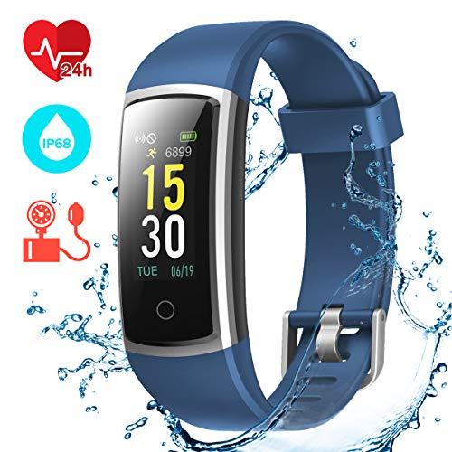 CHEREEKI Fitness Tracker, Orologio Fitness Braccialetto Pressione Sanguigna Cardiofrequenzimetro da...