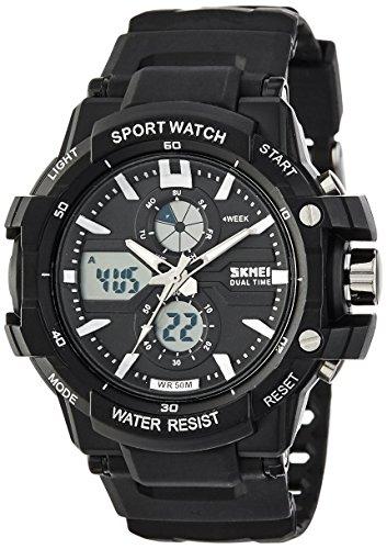 Skmei Analog-Digital Black Dial Men's Watch - 990BLK