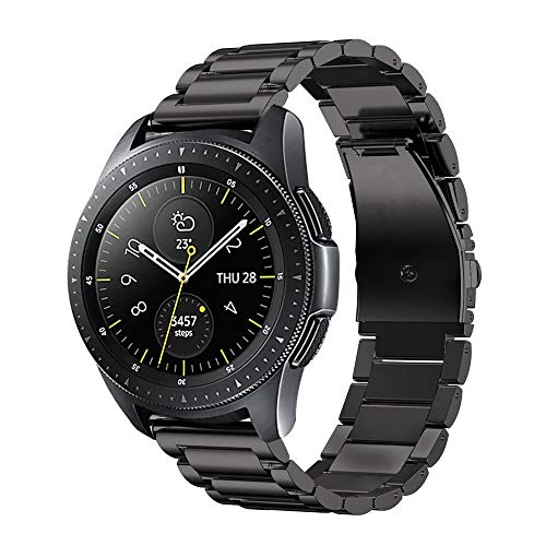 Fintie Cinturino per Galaxy Watch 42mm / Gear Sport, 20mm Wrist Strap Banda di Ricambio in Acciaio inossidabile per Samsung Galaxy Watch 42mm / Gear Sport / Gear S2 Classic Smartwatch,Nero