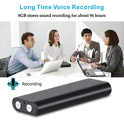 ProTech Electronics Mini USB Voice Recorder Voice Recorder MP3 Sound Recorder Dictaphone HD Noise Cancelling 8GB Memory(Black)