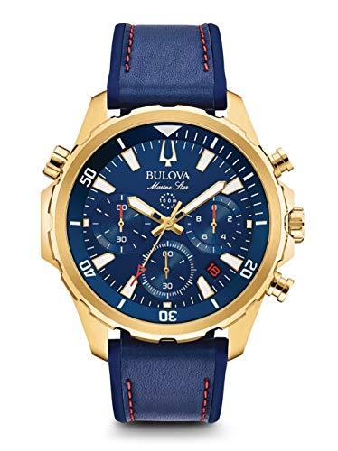 Bulova Orologio Cronografo Quarzo Uomo con Cinturino in Silicone 97B168