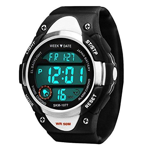 Bambini e sport digitale orologio per ragazzi, 5 atm impermeabile sport all' aria aperta orologio...