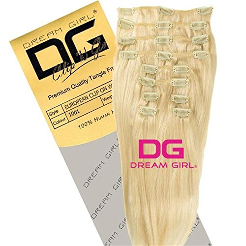El sueño de diseño de chica con hacha 55,88 cm en el diseño de dibujo de extensiones de pelo de