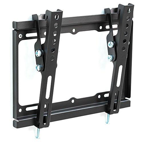 TecTake SUPPORTO STAFFA PARETE MURO INCLINABILE TV LCD TFT LED 17-37' 43-94 cm VESA max 200x200 alta...