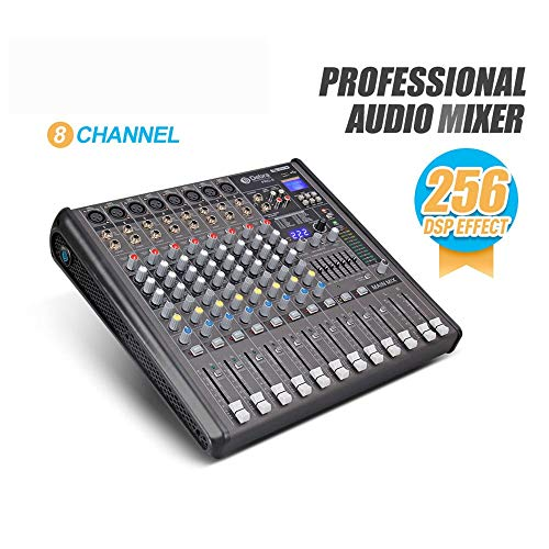 DJ controller Powered Mixer 8 canali professionali for DJ Console Mixer 256 DSP Effect Stage Show USB con display digitale EQ Adjust di connessione wireless Bluetooth All-In-One controller DJ ponte pe