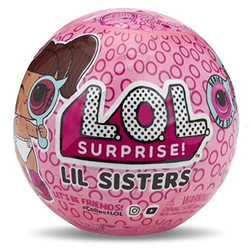 LOL Surprise - Lil Sisters Serie Spia, Bambola con Sfera Portachiavi, 5 sorprese Versione importata Vari