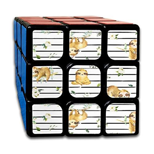 18 Zen Sloths_6 3x3 Magic Speed Cube Smooth Speed Magic Rubik Cube Puzzles Toys