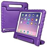 Funda para Apple iPad Air, [Asa de gran tamaño 2 en 1: para llevar y como soporte] La funda COOPER DYNAMO para niños extra resistente a prueba de caídas fabricada en EVA con asa, soporte y protector de pantalla – Niños, niñas, adultos, mayores Púrpura