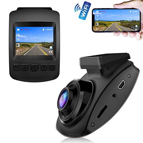 【2019 Nuova Versione】CHORTAU Telecamera per Auto WiFi SONY Sensore Full HD 1080P, Dashcam Schermo da 2 pollici 170 ° Grandangolo, Videocamera per auto con Monitor di Parcheggio