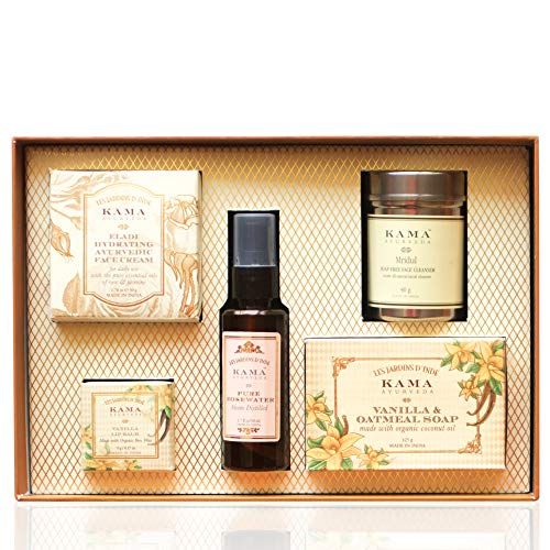 Kama Ayurveda Signature Essentials Gift Box for Her, 270g (Set of 5) 10