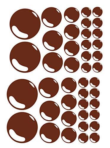 Conjunto de 21 Burbujas Baño Azulejo Adhesivos de Pared Pegatina Gráfico Ensuite Ducha Habitación - Marrón Mate