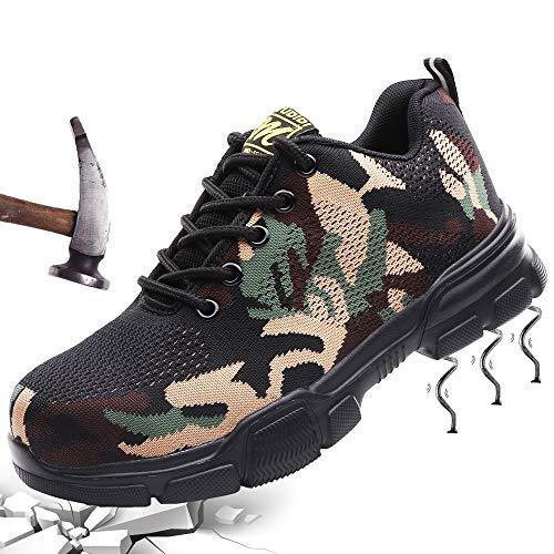 Scarpe Antinfortunistiche Uomo Scarpe da Lavoro Donna Sneaker Estive Leggere Traspiranti Scarpe...