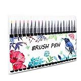 20pcs Pinselstifte Firbon Aquarelles Pinselset Zeichenset Brush Pen Set Wassеrtankpinsеl Stifte für Malen Zeichnen