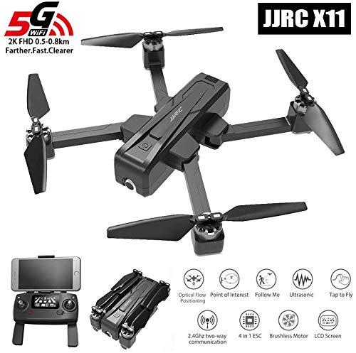 Drone 5G Wifi FPV Pieghevole Con GPS Full HD-2K Fotocamera Su Registra Video Pista Altitudine Attesa...