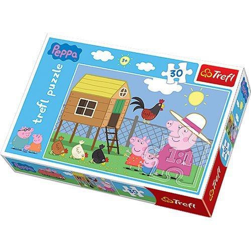 Swinka Peppa Puzzle 30 Wizyta w kurniku
