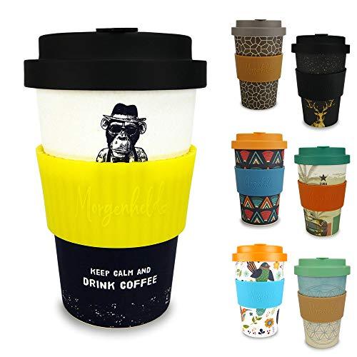 Morgenheld il tuo bicchiere di bambù alla moda   Coffee-to-Go bicchiere   bicchiere dal design futuristico da 400 ml