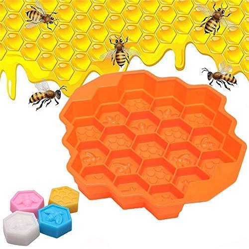 Tgsea, stampo per dolci fai da te a forma di pettine di api e sapone, stampo in silicone per torte e...