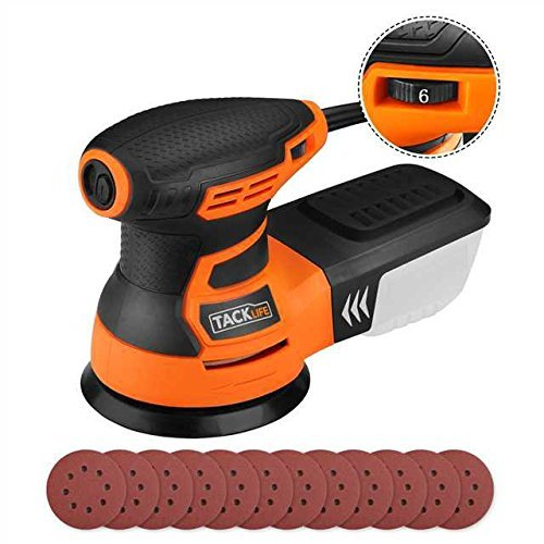 TACKLIFE Ponceuse Excentrique, Ponceuse Rotative, 350W 0-13000OPM, 6 Vitesses...