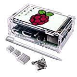 Touch Screen for Raspberry Pi 3 Kit, Quimat 3.5 Inch Touch Screen Monitor 320*480 Resolution TFT LCD Display With Protective Case + 3 x Heat sinks+ Touch Pen for Raspberry Pi 3 2 1 Model B+ QSC11