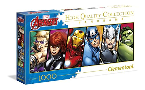 Clementoni Disney Panorama Collection The Avengers Puzzle, 1000 Pezzi, 39442