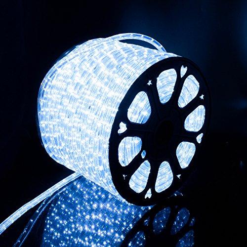 Kefflum 50M LED Luminoso Illuminazione Strisce LED Natale per Esterno e Interno Bianco Freddo IP65