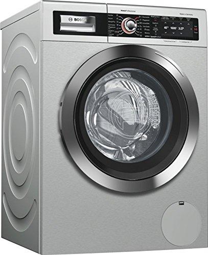 Bosch WAY327X0 Libera installazione Carica frontale 9kg 1600Giri/min A+++ Nero, Argento, Acciaio...