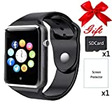 Bluetooth Smartwatch,Smart Watches Unlocked Watch Phone can Call and Text with TouchScreen Camera Notification Sync Compatible for Android iOS(Black)