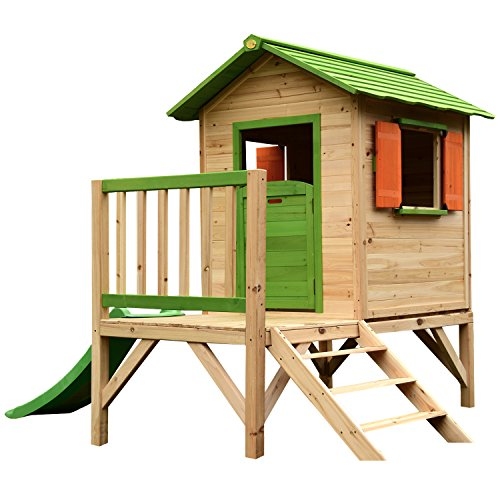 Complete with a slide and ladder, this playhouse is the perfect gift. The addition of a balcony and barn design features will inspire a range of countryside adventures for little ones. You pay a premium for this unit, though.