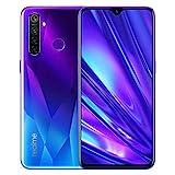 realme 5 Pro Smartphone Móvil, 6.3 '' 4 GB RAM 128 GB ROM Snapdragon 712AIE Octa Core 48MP AI Quad Camera 4035mAh, Dual Sim, Versión Europea (Azul)