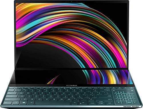 "ASUS ZenBook Pro Duo UX581GV-H2006T - Portátil de 15,6"" con ScreenPad Plus de 14"" (i7-9750H, 32GB RAM, 512GB SSD, GeForce RTX2060 6GB, Windows 10) Metal Azul Celeste - Teclado QWERTY español"