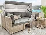 Lounge Destiny Loungegruppe Aruba Sitzgruppe Sofaset Faltdach Polyrattan (76070)
