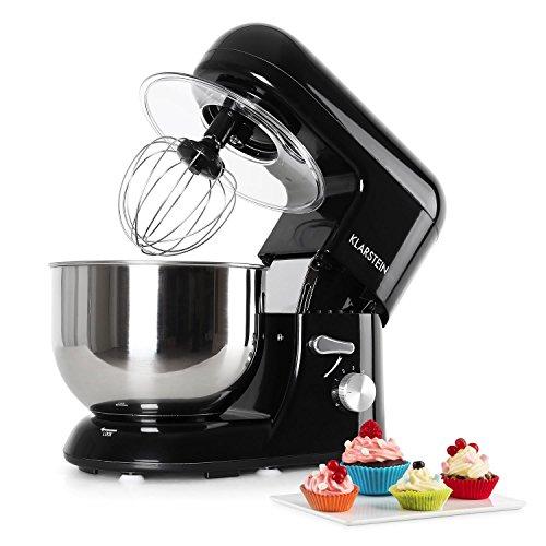 Klarsteinstein Bella Nera - Robot da Cucina, Mixer, impastatrice, 1200 W, 6 PS, 5,2 L, Sistema...