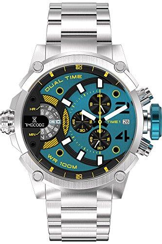 Timecode Herren Chronograph Quarz Uhr mit Edelstahl Armband TC-1003-15