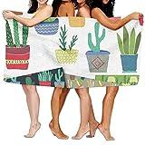 Toallas Decoradas Con Macetas De Cactus De Colores