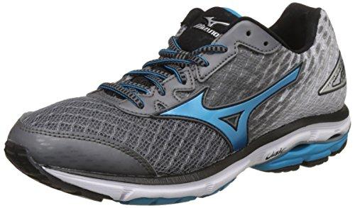 Mizuno Men's Wave Rider 19 Grey Running Shoes-10 UK/India (44.5 EU) (J1GC160323)