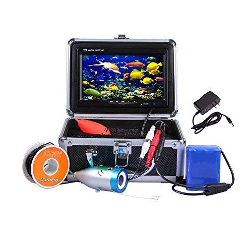 Docooler 7' TFT LCD Telecamera Pesca Portatile 800TVL Notte Visione Subacquea Fotocamera con Cavo 30m