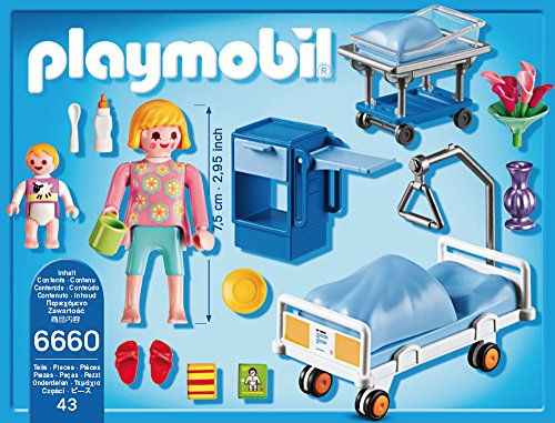 PLAYMOBIL 6660 – Krankenzimmer mit Babybett - 3