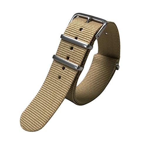 20 millimetri kaki senza tempo delicato stile NATO nylon balistico sostituzione cinturino cinturino per gli uomini